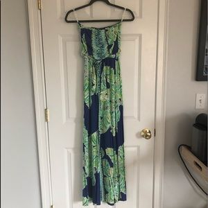 Lily Maxi- blue and green